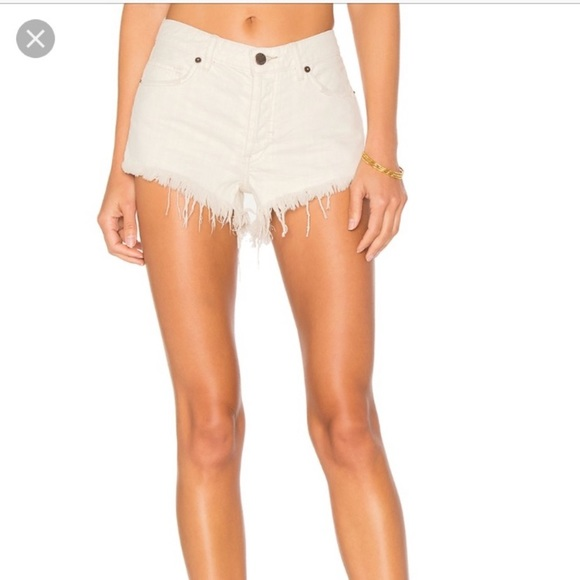 Free People Distressed White Jeans